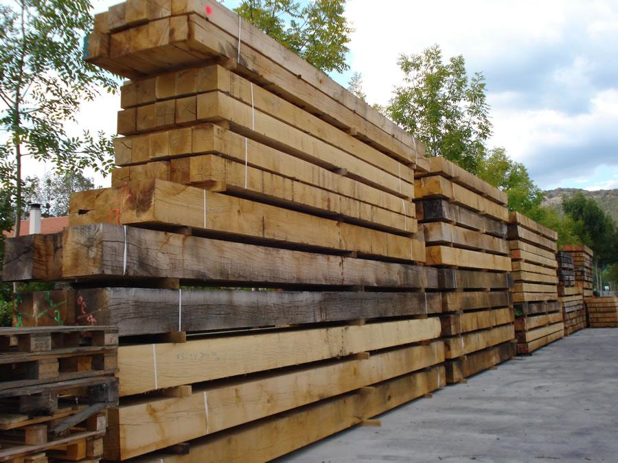 Estructuras de madera maderas ansorena - Vigas de roble antiguas ...