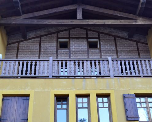 barandillas de madera