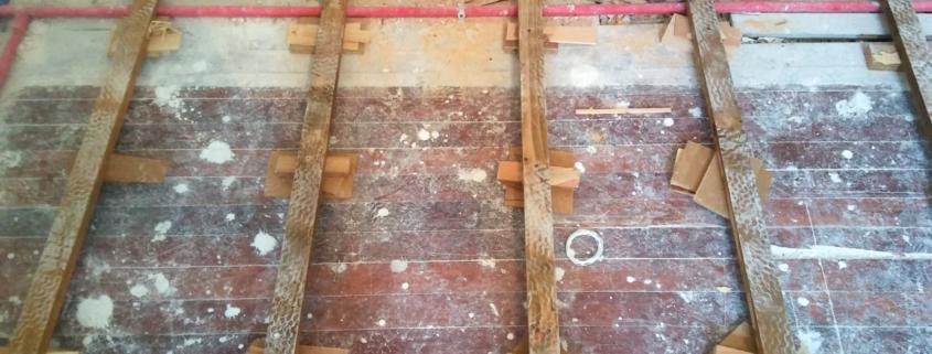colocación de suelos de madera
