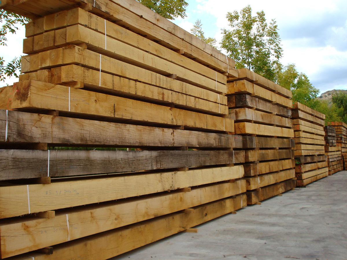 vigas macizas de madera