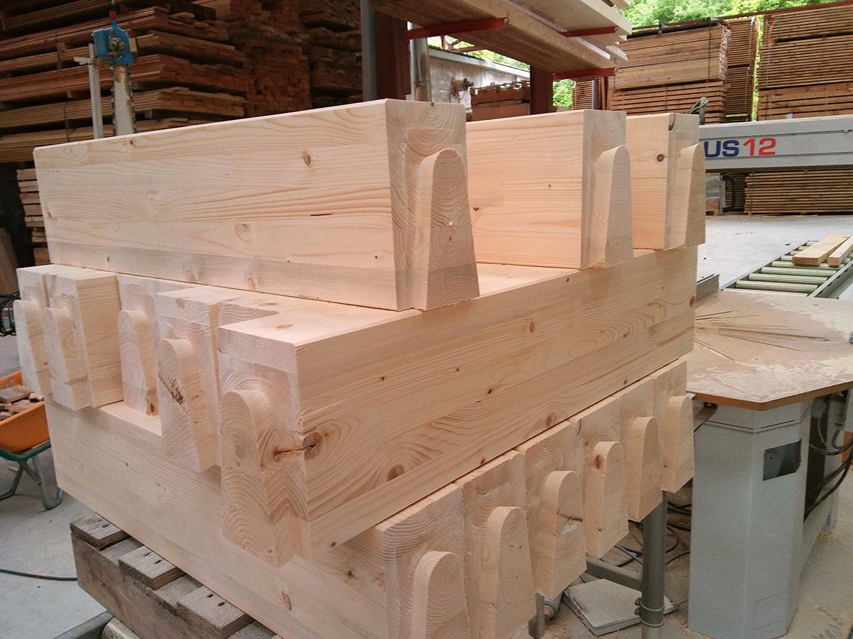 madera de Abeto laminado mecanizado
