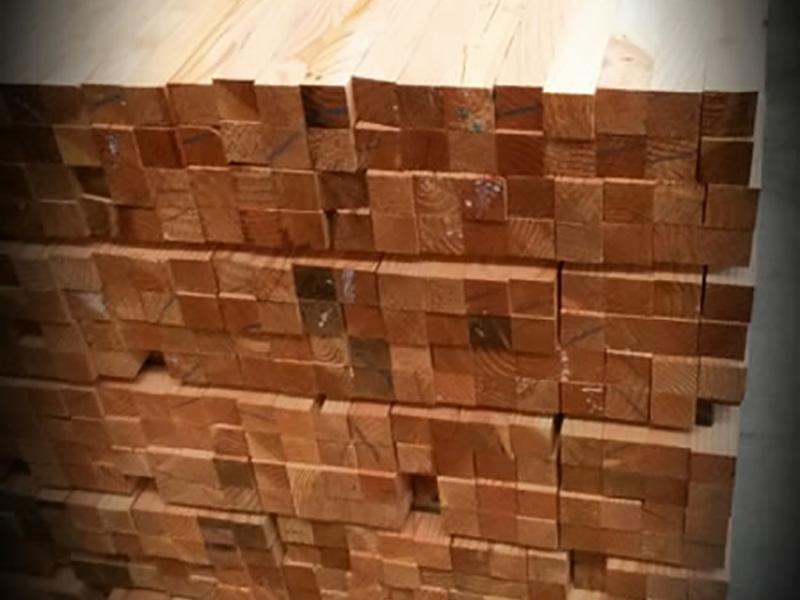 rastrel de madera de alerce