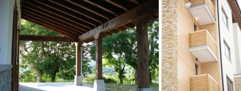 Balcones y porches de madera