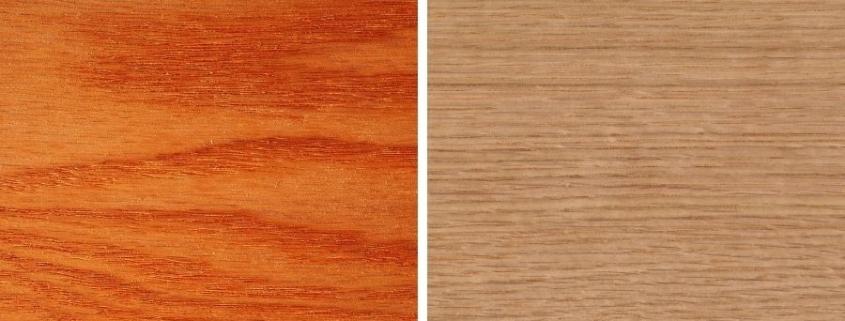 diferencias entre madera de roble rojo y madera de roble blanco