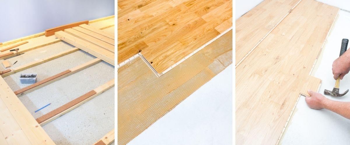tipos de instalacion de suelos de madera